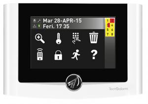 Tecnoalarm Tastiera antifurto Touch UTS 4.3 prox C.A.T. sistemi di sicurezza - Torino e provincia